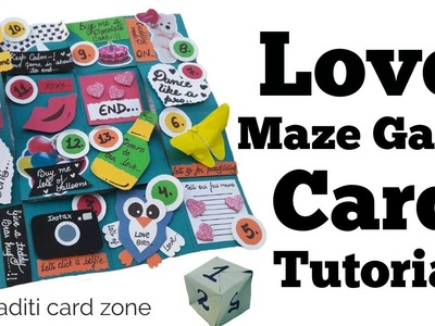 Must Watch | How to make Love Maze Game Card | Friendship day cards for best friend |