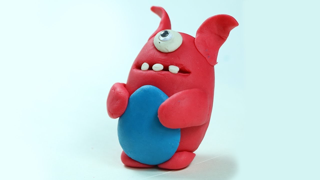 play doh crafts for kids fun cartoon with clay modelling