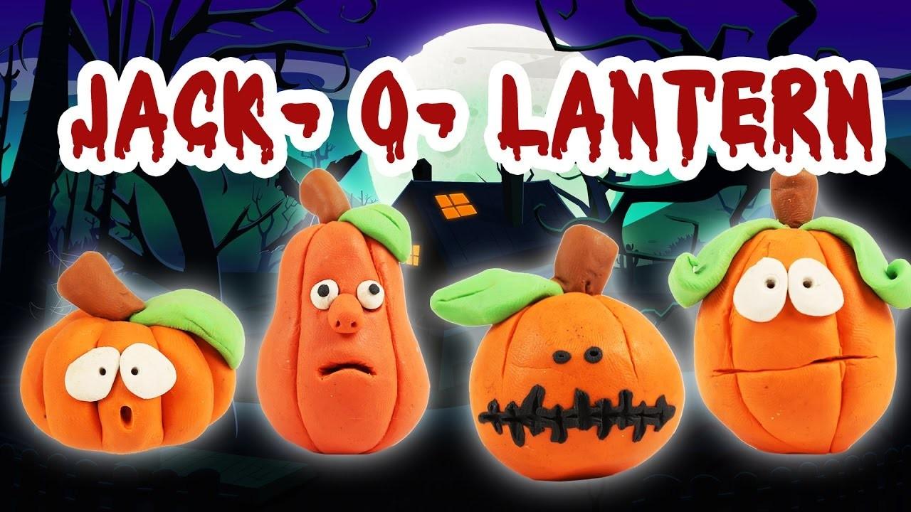 Play Doh Jack-o-Lantern | Play Doh Halloween | DIY Jack-O-Lantern | Kids halloween Videos | Kids Fun