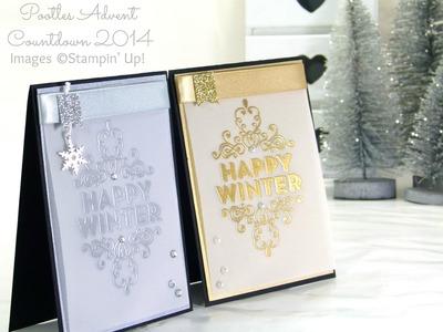 Pootles Advent Countdown #17 Wintertime Heat Embossed Card Tutorial