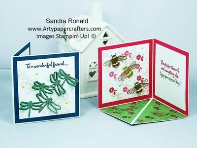 Pop-Up Corner Fold Card - SandraR Stampin' Up! Demonstrator Independent
