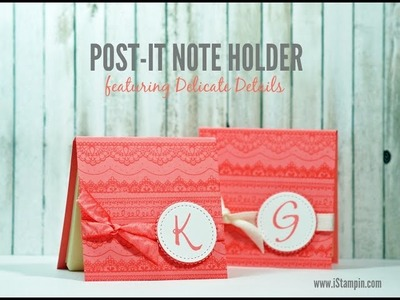 Post-It Note Holder featuring Delicate Details