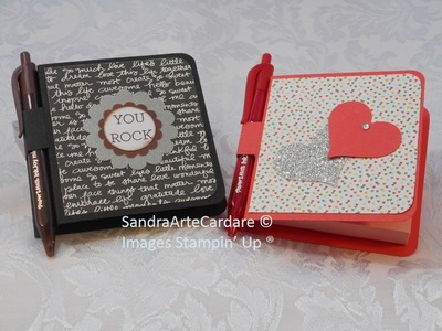 POST IT NOTE PAD GIFT IDEAS - SandraR UK Stampin' Up! Demonstrator Independent