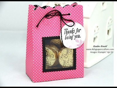 Pretty GIFT BAG with WINDOW - SandraR UK Stampin' Up! Demonstrator Independent