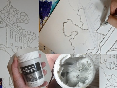 Quick Video: Using Liquitex Resin Sand to create a Mosaic Effect w. Sarah Fezio