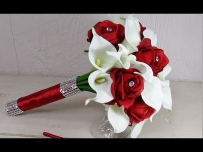 Red Calla Lily Wedding Bouquet
