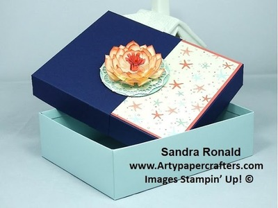 Reinforced Box for Sietie to hold 10 Cards  -  SandraR Stampin' Up! Demonstrator Independent
