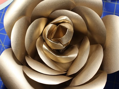ROUND PATTERN: GOLD PAPER ROSE PART 2