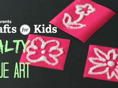 Sensory Salt & Glue Art | Crafts for Kids | PBS Parents