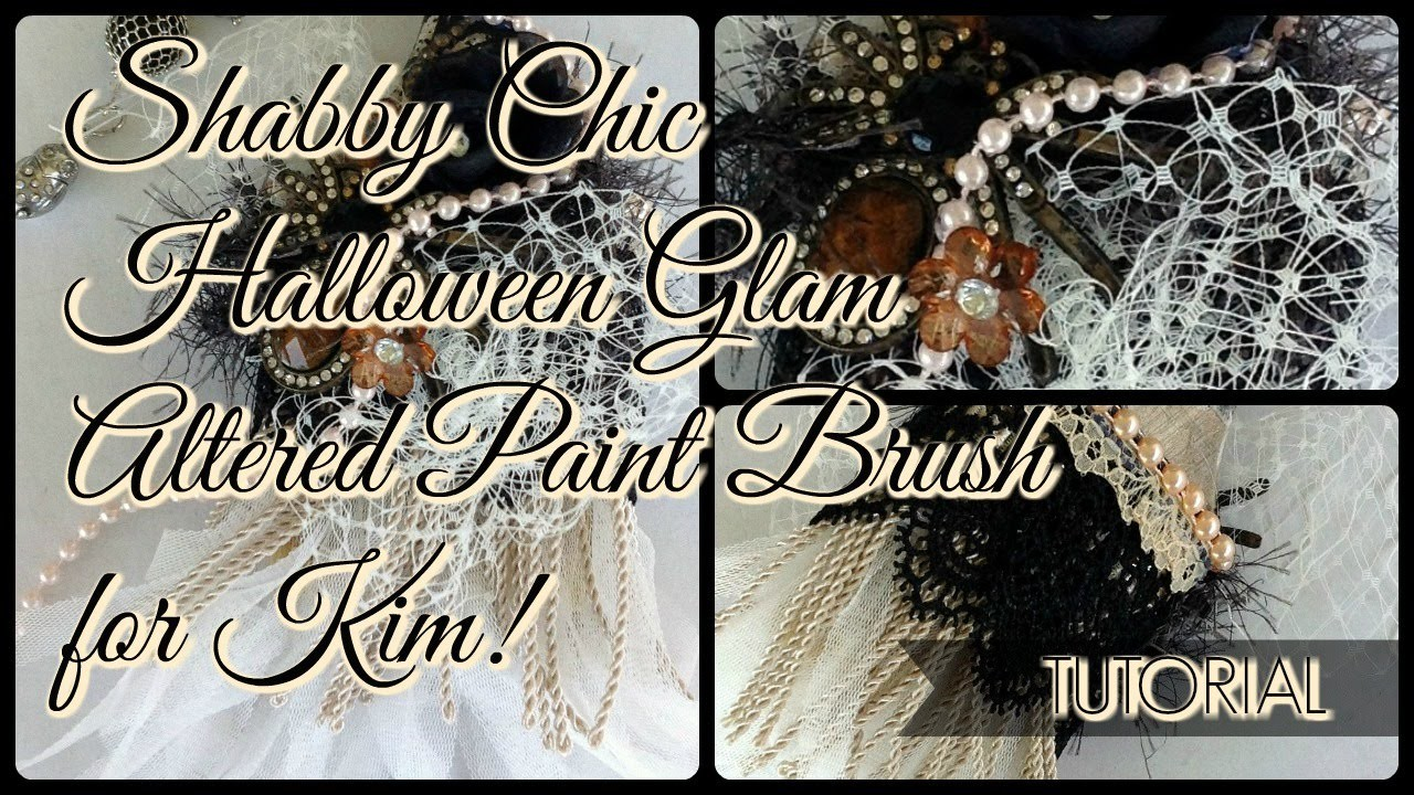 Shabby Chic Altered Paint Brush for Kim