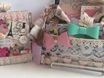 Shabby Chic Flip Book and Loaded Envelope -Happy Mail From Cat