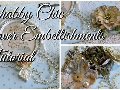 Shabby Chic Lace Mini Album Tutorial | Front Cover