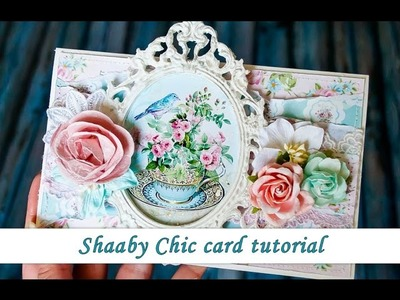 Shabby Chic style card tutorial by Ola Khomenok
