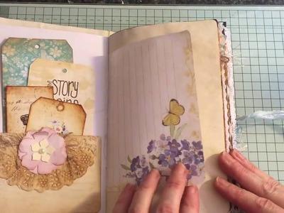 Shabby chic vintage journal #junkjournaljunkies