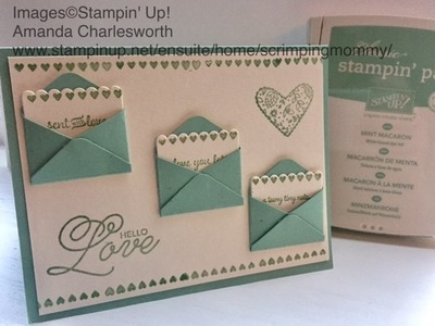 Simple no fuss Valentine card Stampin' Up! products
