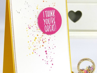 South Hill Designs & Stampin' Up! Sunday Crazy Summer Colour Locket and Card