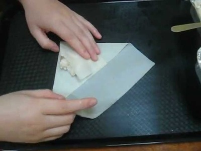 Spring Roll - Folding Techniques (Square Pastry)