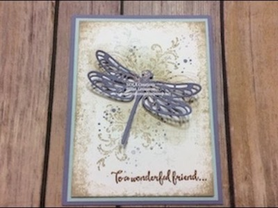 Stampin' Up! Dragonfly Dreams Technique Card