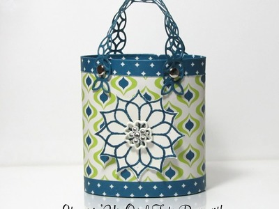 Stampin'Up Oval Tote Bag with Eastern Palace DSP