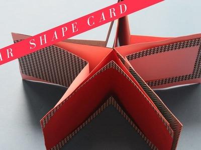 Star Shape Card | Handmade card | Easy card idea | Start to end tutorial