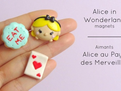[Stop Motion] Alice in Wonderland magnets. Aimants Alice aux Pays des Merveilles