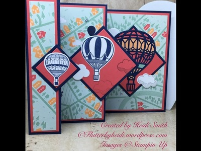 Sunday Scoring pop out accordion fold card by Flutterbyheidi Heidi Smith Stampin up UK Demonstrator