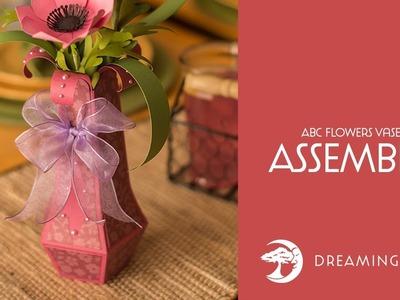 SVG File - ABC Flowers SVG Bundle Vase - Assembly Tutorial