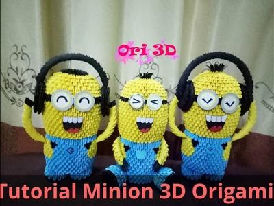Tutorial Big Minion 3D Origami - Hướng dẫn xếp Minion Origami 3D
