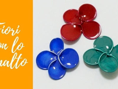 Tutorial: Fiori in Wire con lo SMALTO (ENG SUBS - DIY wire flowers with nail polish)