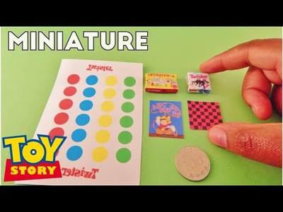 Twister and Operation Board Game - Toy Story Miniature Room Box (1:12)