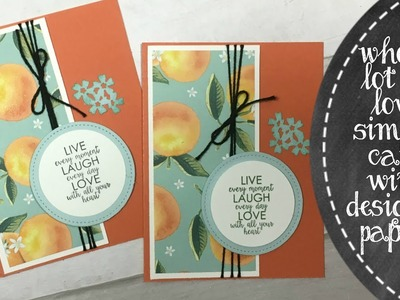 Using Designer Paper To Create A Card
