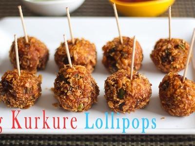 Veg Kurkure Lollipops Recipe in Hindi - Indian Snacks Recipes - Evening Snacks Recipes Ep-173