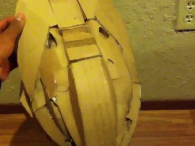 Watch this awesome cardboard halo helmet