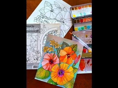 Watercolor Tutorial with Sandi Pirrelli on Live with Prima