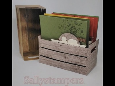 Wood Texture Crate made with Stampin' Up! products.