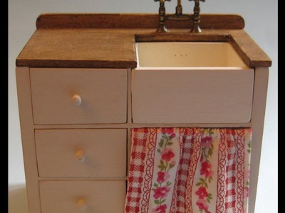 1.12th Scale Dolls' House Sink Unit Tutorial - Part Two