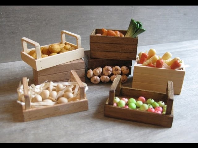 1.12th Scale Vegetable Storage Crates Tutorial