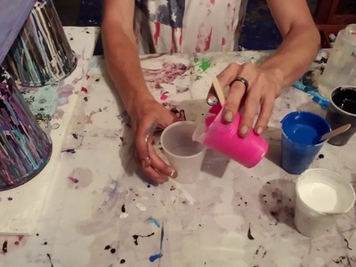 ACRYLIC pouring.FLOW ART How to make your own abstract masterpiece!