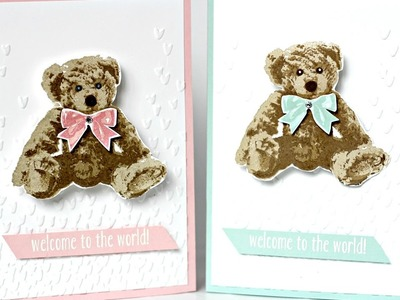 Baby Bear Stampin' Up! action wobble card
