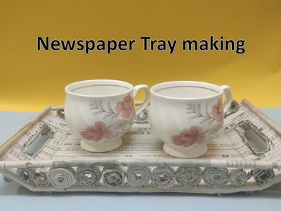 Best out of waste ideas| how to make tray with news paper|DIY|easy craft
