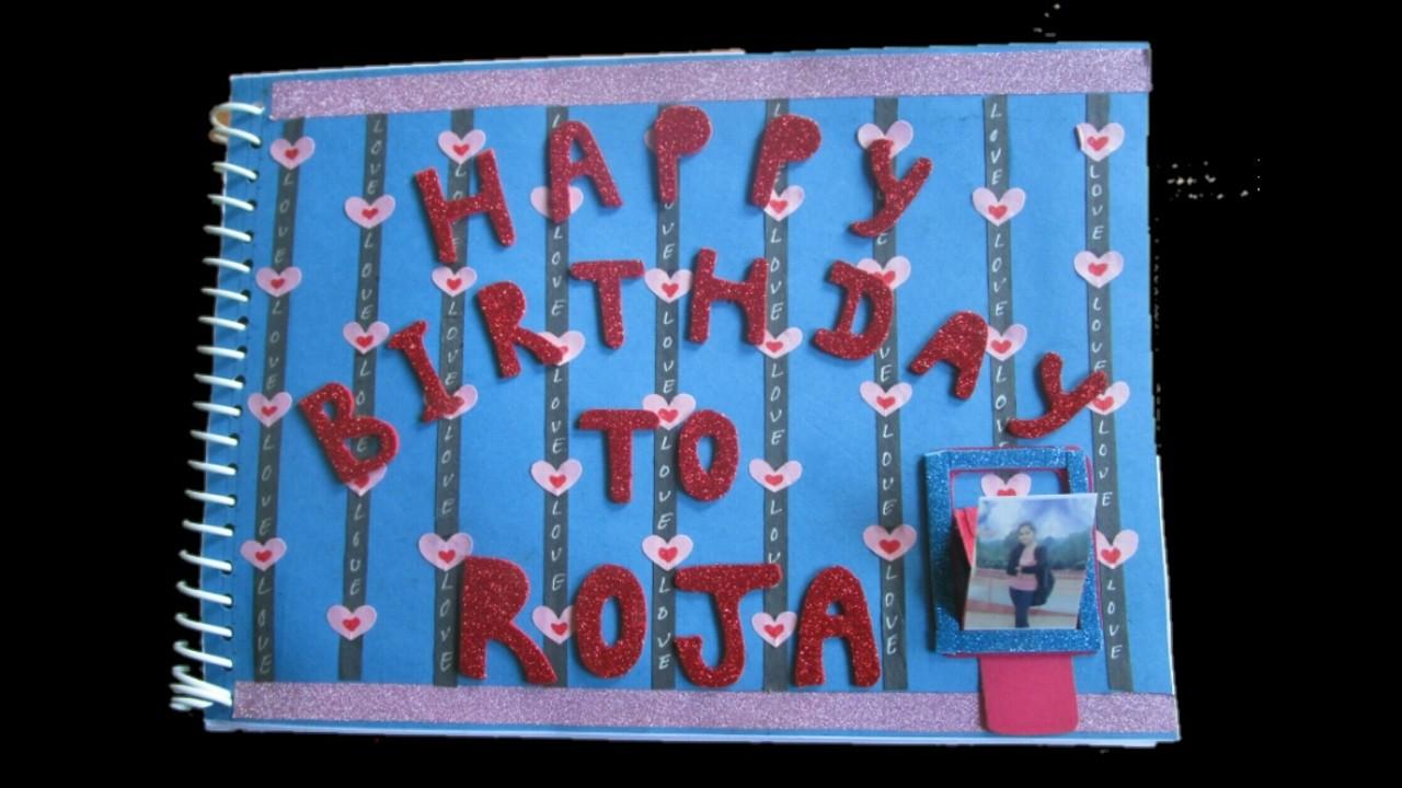 Birthday scrapbook ideas | best gifting  ideas for birthday