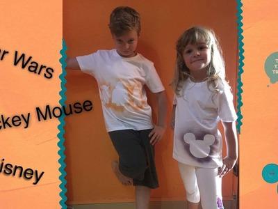 Camisetas de Star Wars y Mickey Mouse personalizadas
