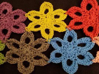 Crocheted Flower Motif Tutorial!