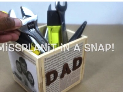 Daddy's Took Caddy. DIY. How To Create This Gift for Dad Flash Back Snap!