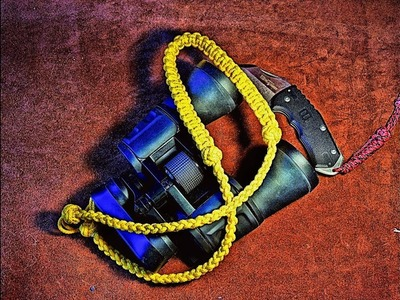 Decorative Paracord Lanyard for Binoculars  - How to Make - or Camera Strap Lanyard Knotting Project