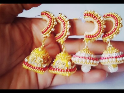 Different ideas in jhumkas making   Different style of jhumkas