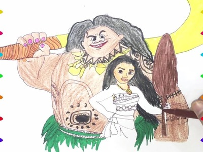 Disney Princess Moana 2 Drawing Pages to Color for Kids, Coloring Pages, Learn Colors