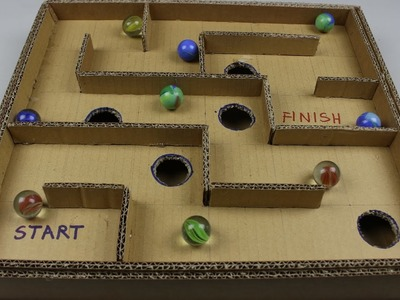 DIY Board Game Marble Labyrinth from Cardboard | How to Make Amazing Game
