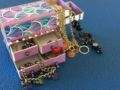 DIY   craft  How to Make Jewelry Box  Organizer For Jewelry   organization gifts
