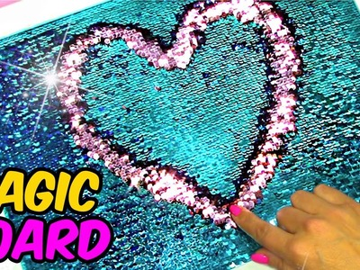 DIY Crafts to Make When You are Bored! SEQUIN MAGIC BOARD!